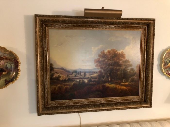 "1879 JOHN WILLIAMSON HUDSON VALLEY SCHOOL ARTIST TITLED ""MOHAWK VALLEY"" PURCHASED IN 1947 FOR $160."
