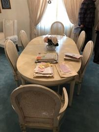 dinning room table - six matching chairs