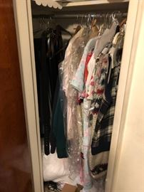 LOTS OF CLOTHING!!!  FROM BASEMENT TO SECOND FLOOR FULL OF CLOTHING.