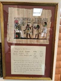 EGYPTIAN LEGAL SCALES OF JUSTICE ART WITH TRANSLATION - AND I'M PARAPHRASING - IF YOUR HEART WEIGHS MORE THAN A FEATHER AFTER DEATH THEN YOU ARE DAMNED FOR ETERNITY