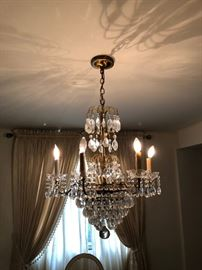 one of several chandeliers (with original 70 year old receipts from purchase)