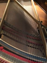 SOUND BOARD INSIDE THE PIANO
