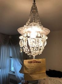 another chandelier with original 70 year old receipt