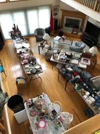 """The """"Great Room"""" viewed from the balcony"""