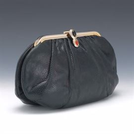 Judith Leiber Reptile Skin Shoulder Bag