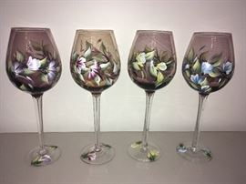 Hand Painted Wind Glasses