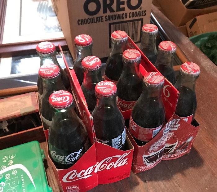 1997 Stanley Cup Coke Bottles