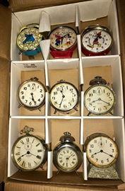 Vintage Alarm Clock Collection- Mickey Mouse, Westclox, Sposnodic, B S &R Detroit, Gilbert, Big Bird, Travel Alarms, Fred Swan, Seth Thomas, Clock Radios, Cookoo Clocks, and more!