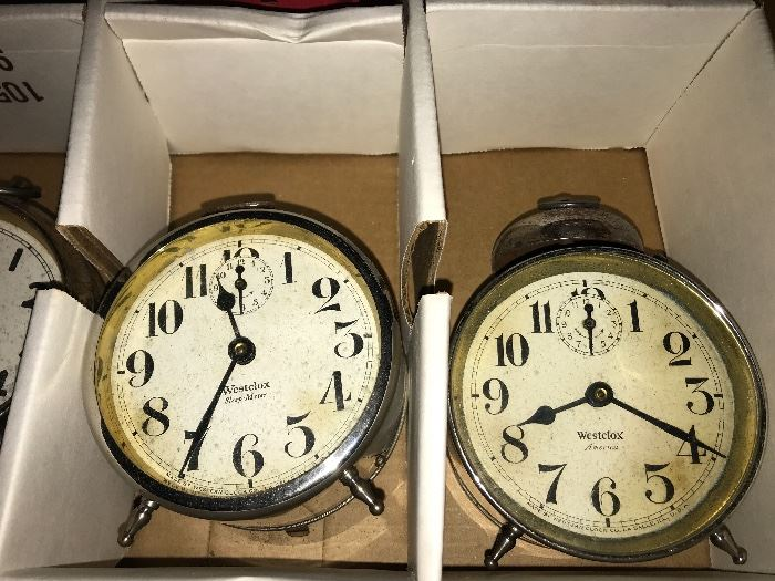 Vintage Alarm Clock Collection- Mickey Mouse, Westclox, Sposnodic, B S &R Detroit, Gilbert, Big Bird, Travel Alarms, Fred Swan, Seth Thomas, Clock Radios, Cookoo Clocks,