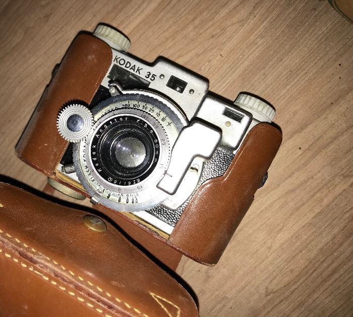 Kodak 35 Camera in case