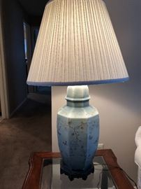 Sage green Asian style lamps - 2