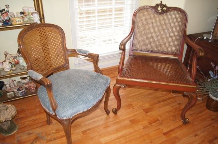 Queen Anne cane chairs