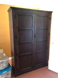 Antique English Oak wardrobe