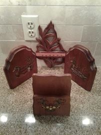 Bookends, Napkin Holder, and Spoon Holder