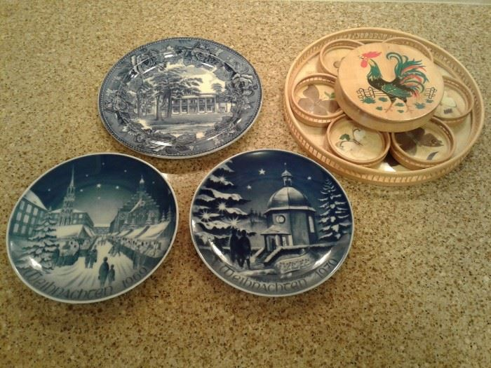Coasters and Hanging Plates