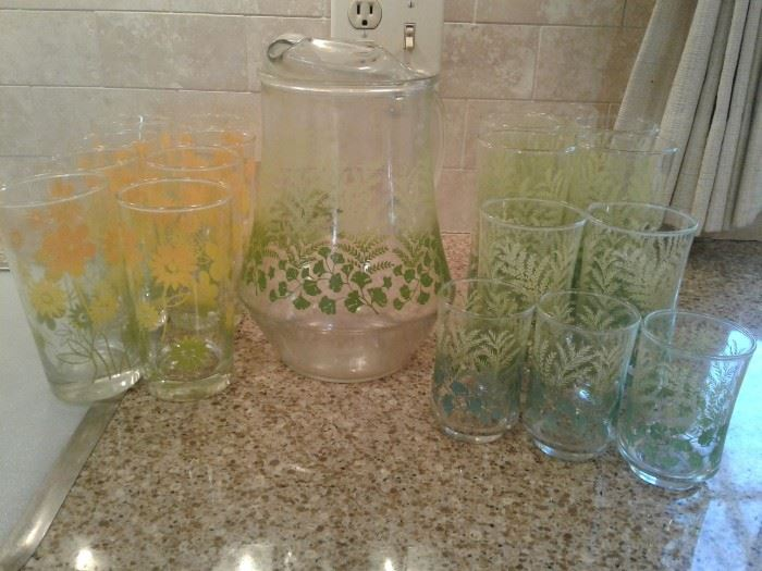 Colorful Glassware with Picture