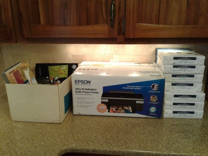 New Epson Printer and Assorted Papers