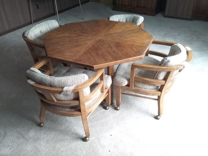 Octagon Dining Room Card Table