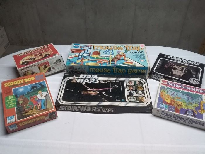Vintage Puzzles and Board Games