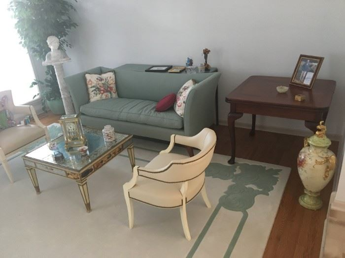 Living Room Furniture and Rug