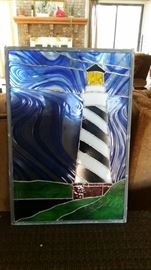 Stain Glass Lighthouse $85