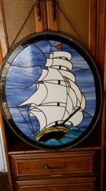 Stain Glass Sailing Ship $75