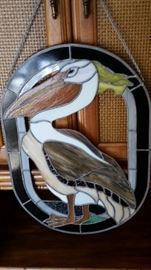 Stain Glass Pelican $85