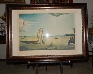 DESERT WATCH, BY ARTIST SALVADOR DALI. COLORED LITHOGRAPH,M SIGNED & NUMBERED WITH COA