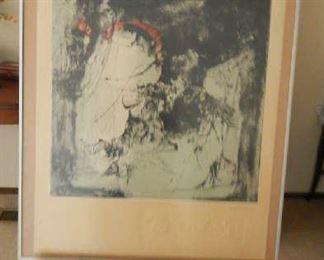 MOON SHADOW, BY VIETNAMESE ARTIST LA BA DANG. MATT IS BEAUTIFULLY EMBOSSED, SIGNED WITH COA.