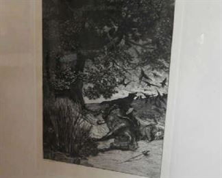 SIGNED ETCHING BY ARTIST, MAX KLINGER FROM BERLIN