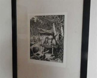 SIGNED ETCHING BY ARTIST MAX KLINGER, BERLIN