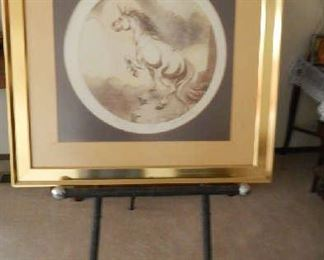 UNICORN, BY ARTIST RYSDYK A SIGNED & NUMBERED LITHOGRAPH.