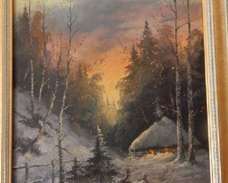 BEAUTIFUL ART PIECE, UNKNOWN RUSSIAN ARTIST.