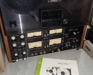 VINTAGE TEAC A 2340/A 3340 REEL TO REEL.  4 CHANNEL SIMUL-SYNC STEREO TAPE DECK. INCLUDES MANUAL & ORIGINAL BOX!!! ADDITIONAL TAPES AVAILABLE FOR SALE