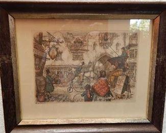 ASSORTED ART PIECES FROM ARTIST VINTAGE ARTIST ANTON DIECK