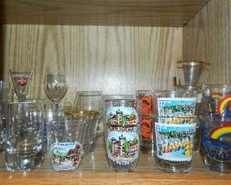 HUGE ASSORTMENT OF SHOT GLASSES FROM ALL OVER THE COUNTRY