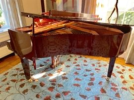 "Yamaha Cherry GHC1 Baby Grand Piano.  5'3"".  Matching bench.  Disklavier Mark IV.  Piano manufactured in Thomaston, GA circa 2005.  MINT."