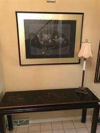 Oriental style sofa table