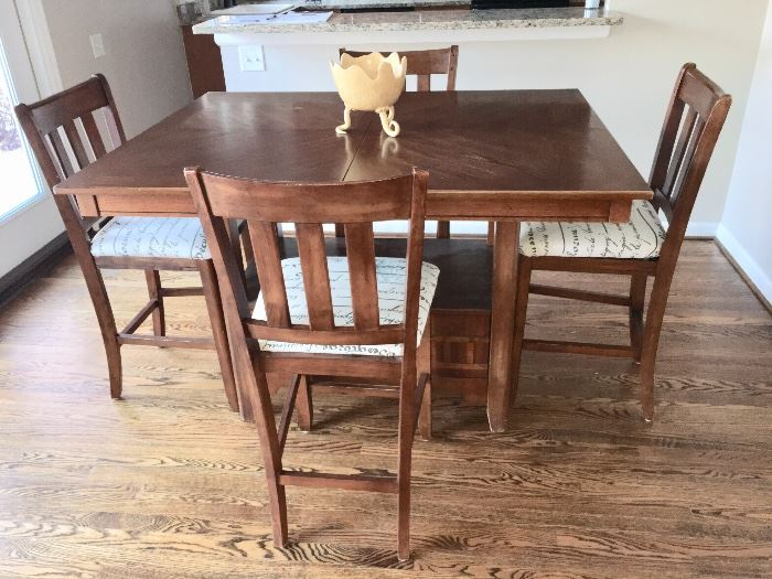5 pc counter café height dining set