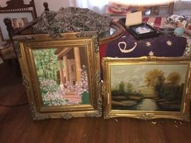 TWO OF MANY PAINTINGS