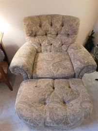 Best chairs Inc  Armchair and ottoman