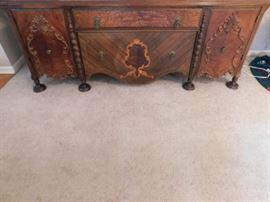 Antique Tiger Oak Buffet. 5.4 by 2 feet