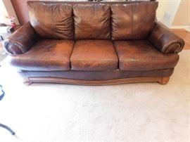 Ashley 6 foot leather sofa