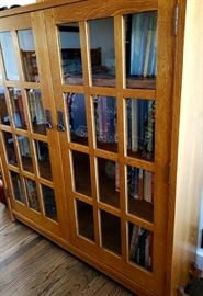 Stickley Oak Double Door Bookcase