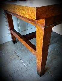 Vintage Oak Library Table