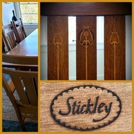 Stickley Harvey Ellis inlaid dining chairs