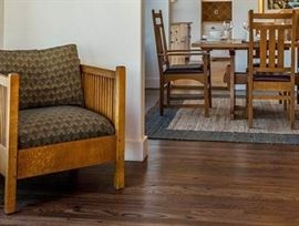 Stickley Mission Oak Cube Chair