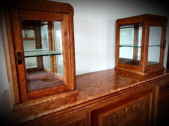 Art Deco Period sideboard with double vitrine