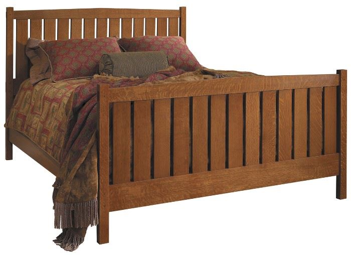 Stickley Mission Oak Queen Bed