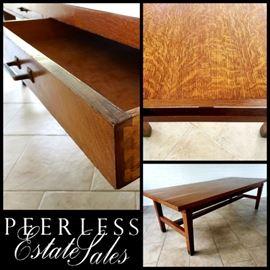 vintage oak Library Table 8 1/2 feet long!